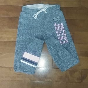🌸3 for $30🌸 Justice joggers grey Sz 7